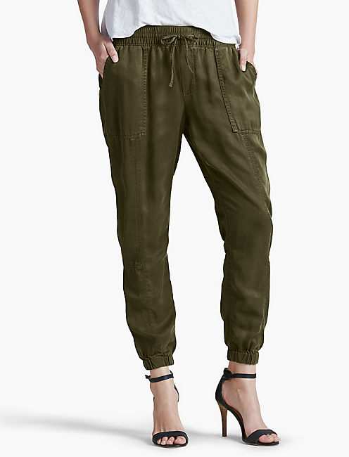 TENCEL CARGO PANT, DARK OLIVE FALL