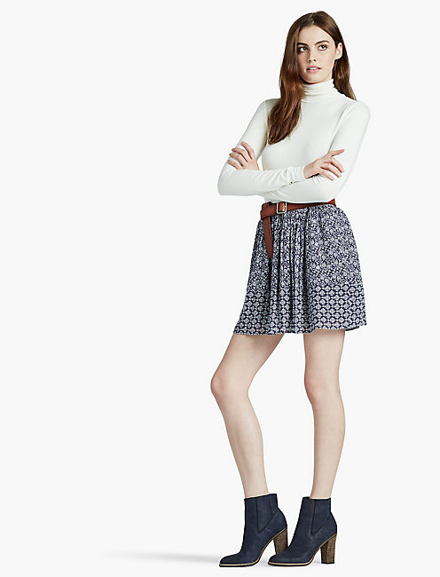 Lucky Geo Print Skirt