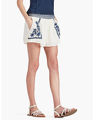 LUCKY EMBROIDERED SHORT