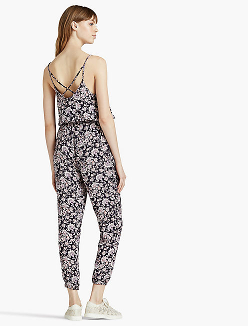 DITSY JUMPSUIT, NAVY MULTI