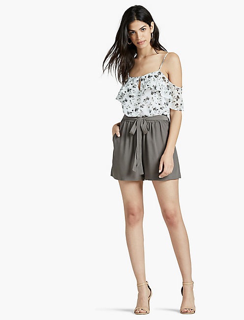 SWING SHORT, PEWTER