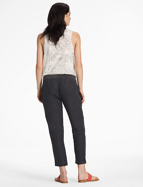 LINEN PANT, WASHED BLACK