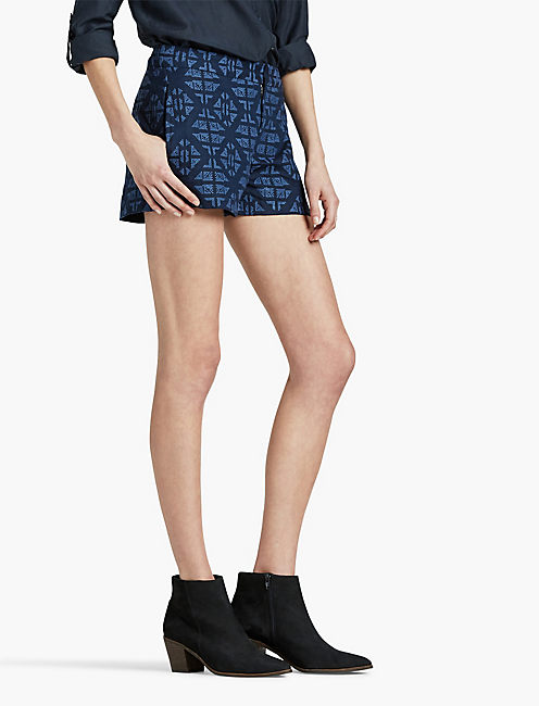 ALLOVER EMBROIDERED SHORT, AMERICAN NAVY