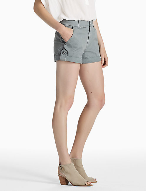 UTILITY CHINO SHORT, WASHED GREY
