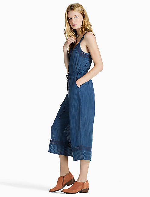 Lucky Stripe Culotte Jumpsuit