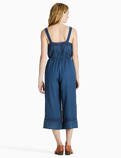 STRIPE CULOTTE JUMPSUIT, DARK DENIM