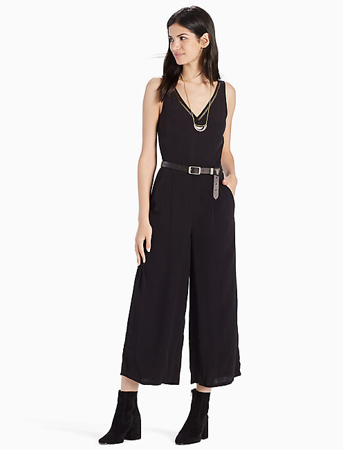 LADDER LACE JUMPSUIT, 001 LUCKY BLACK