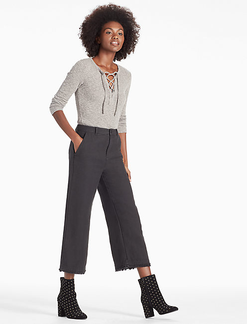 DENIM CULOTTE, WASHED BLACK