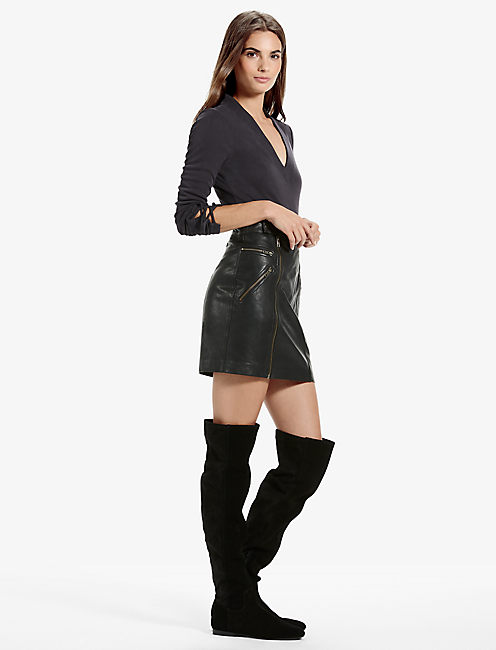 Lucky Leather Moto Skirt