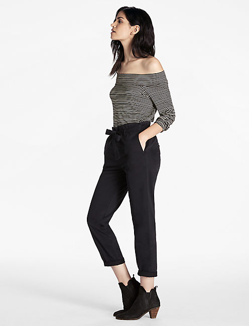 PAPER BAG PANT, WASHED BLACK