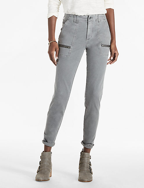 UTILITY PANT, WASHED GREY