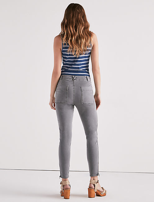 GIRLFRIEND UTILITY PANT, WASHED GREY