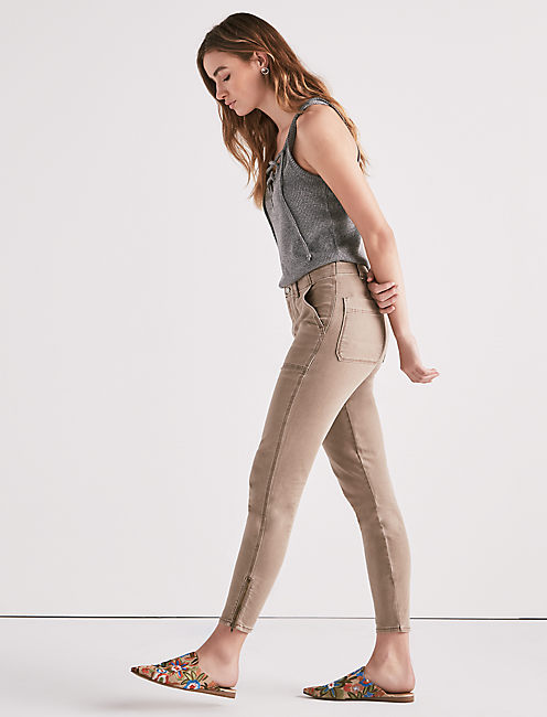 GIRLFRIEND UTILITY PANT, TAUPE