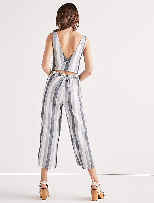 Lucky Stripe Tie Back Jumpsuit