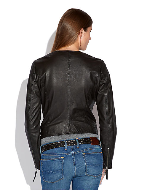 HARPER LEATHER JACKET, 001 LUCKY BLACK