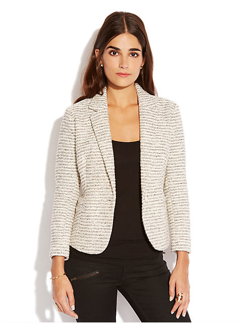 BLACK & WHITE BLAZER, BLACK MULTI