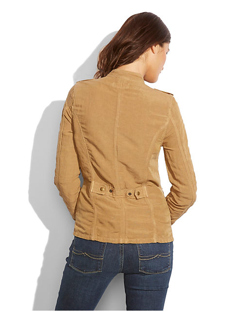 WILDWOOD LINEN JACKET, PALE ALE
