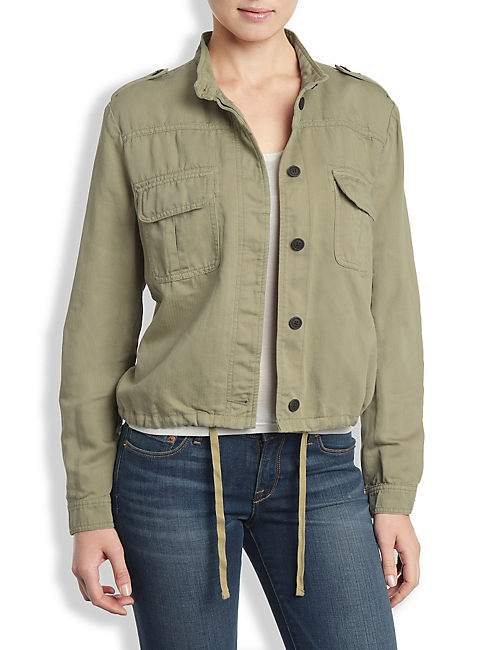 SHORT MILITARY JACKET, #3916 FADED OLIVE