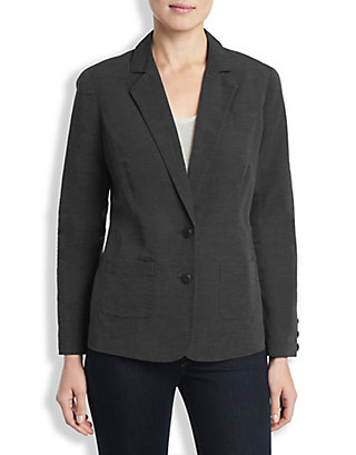 LUCKY WASHED OUT BLACK BLAZER