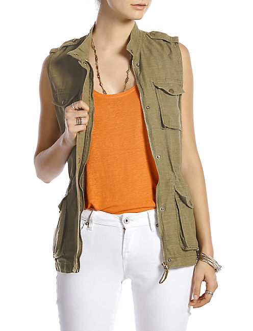MILITARY VEST, #3526 LODEN GREEN