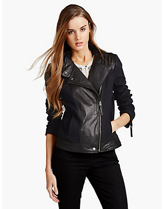 LUCKY LEATHER MIX JACKET