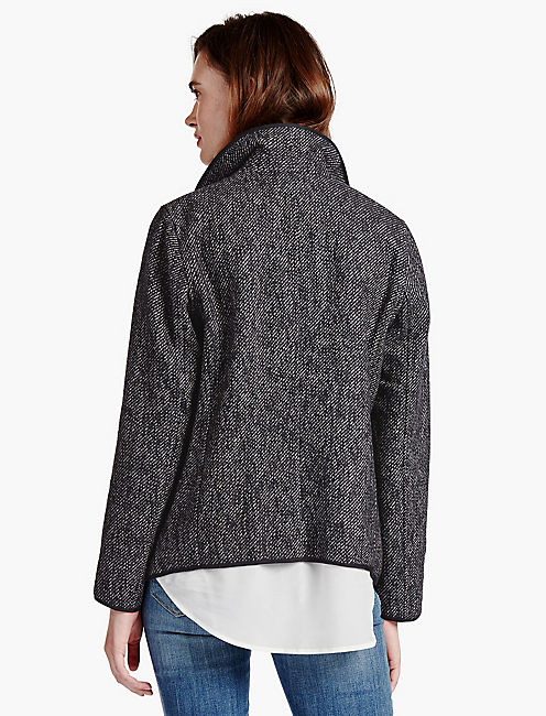 LUCKY DRAPY FRONT WOOL JACKET
