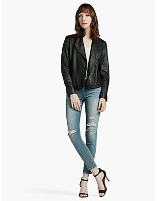 LUCKY LEATHER DRAPED MOTO