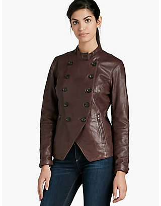 LUCKY DOUBLE BREASTED LEATHER JACKET