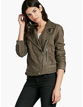 LUCKY SUEDE MOTO JACKET