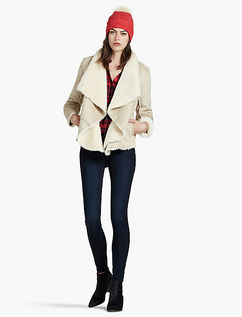 Lucky Shearling Waterfall Jacket