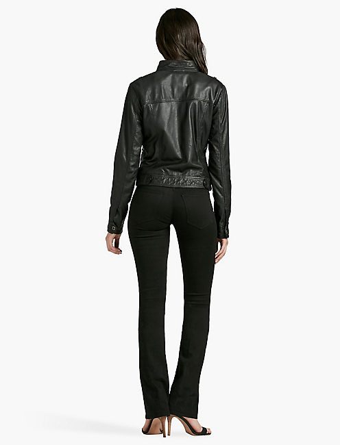 SANTA FE LEATHER JACKET, 001 LUCKY BLACK