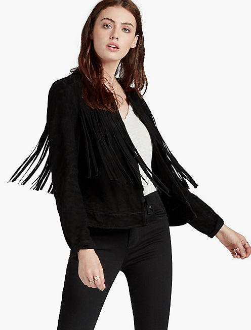 FRINGE NO CLOSURE JACKET,
