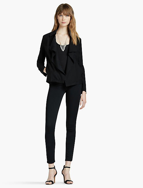 SOFT WATERFALL BLAZER, 001 LUCKY BLACK