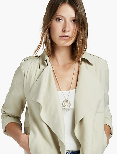 SOFT WATERFALL BLAZER, KHAKI