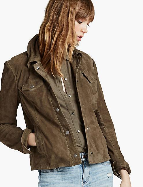 3aacfc078d Suede Shirt Jacket