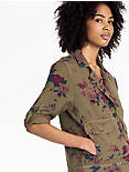 FLORAL MILITARY JACKET,