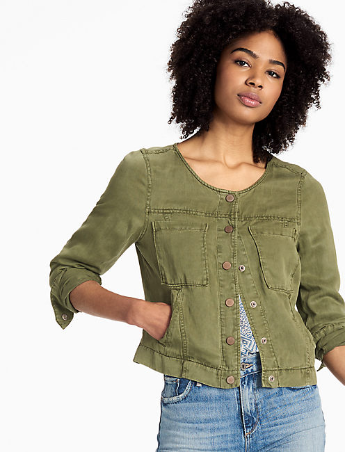 CROPPED MILTARY JACKET,