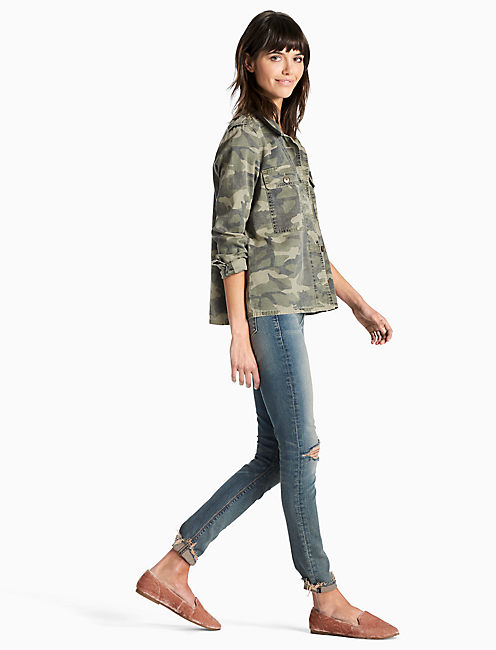 Lucky Camo Shirt Jacket