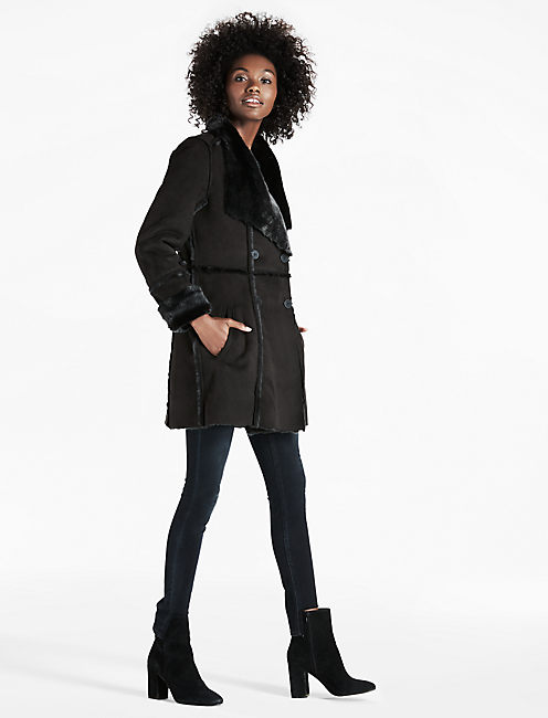 SHEARLING WATERFALL JACKET,