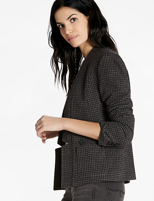 Mini Houndstooth Blazer,