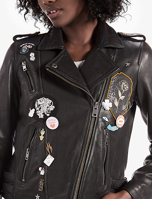 PIN MOTO JACKET, 001 LUCKY BLACK