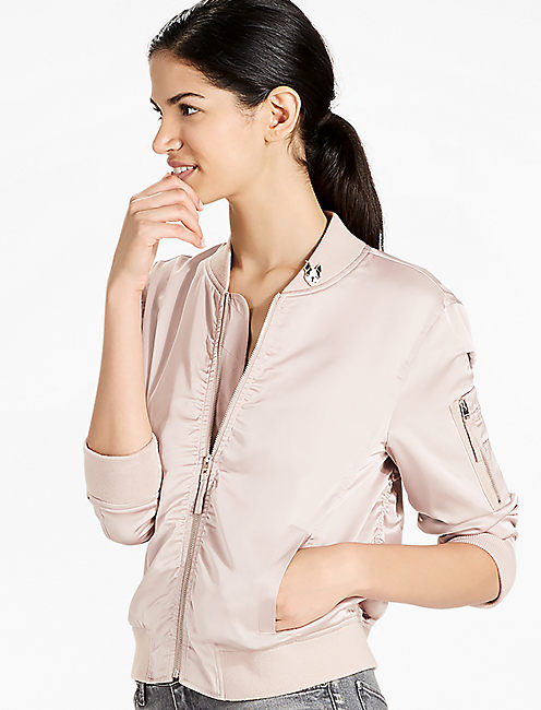 RUCHED BOMBER, DARK BLUSH