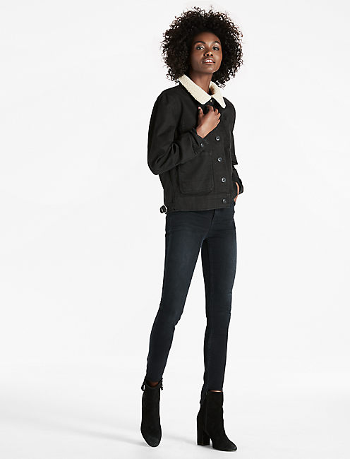 EMBROIDERED SHERPA MILITARY JACKET,