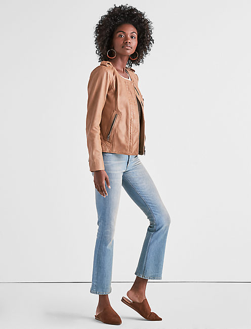 SOFT LEATHER JACKET, LIGHT CAMEL
