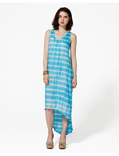 ZARYA TANK DRESS, BLUE MULTI