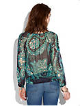 KASHMERE PAISLEY TOP, BLUE MULTI