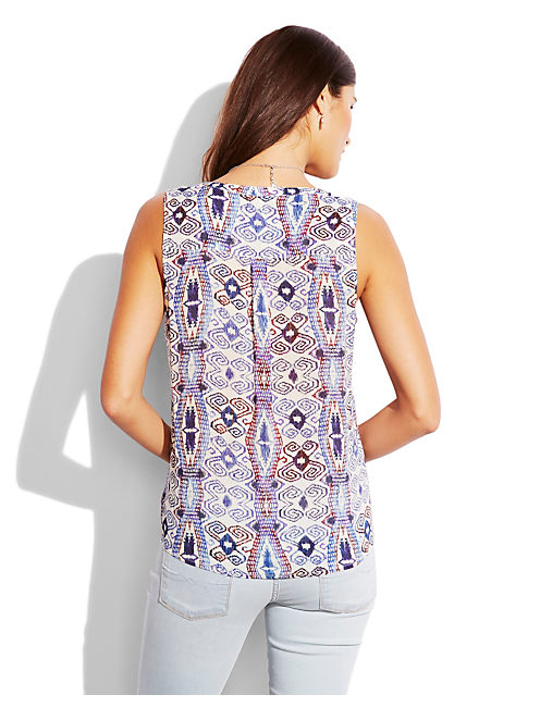 DIAMOND TRIBAL TOP, NATURAL MULTI