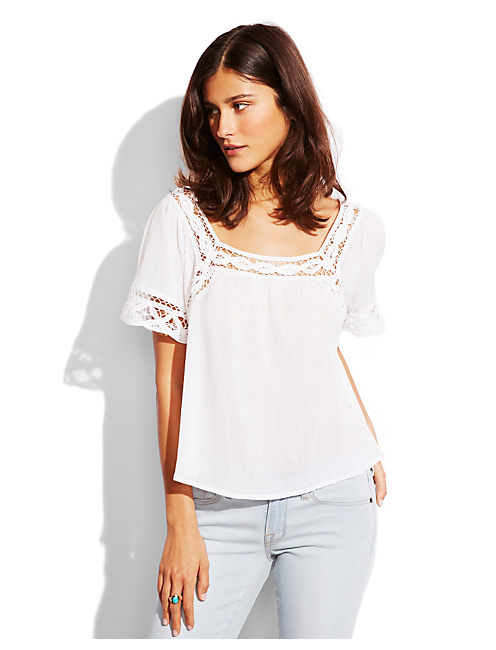 BATTENBERG LACE TOP, LUCKY WHITE