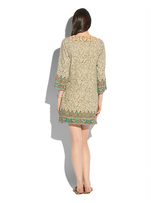 DASHIKI DRESS, NATURAL MULTI