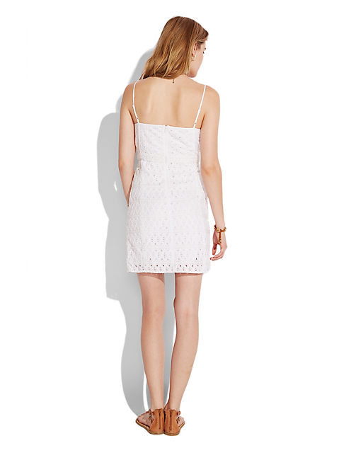 WHITE EYELET DRESS, LUCKY WHITE